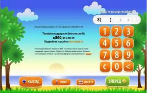 Номер сотового телефона