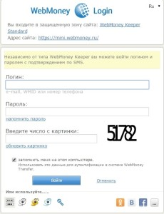 Авторизация на официальном сайте