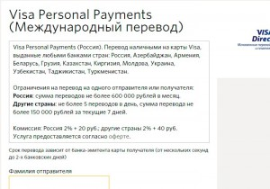 Visa Personal Payments