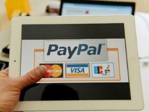 PayPal на планшете