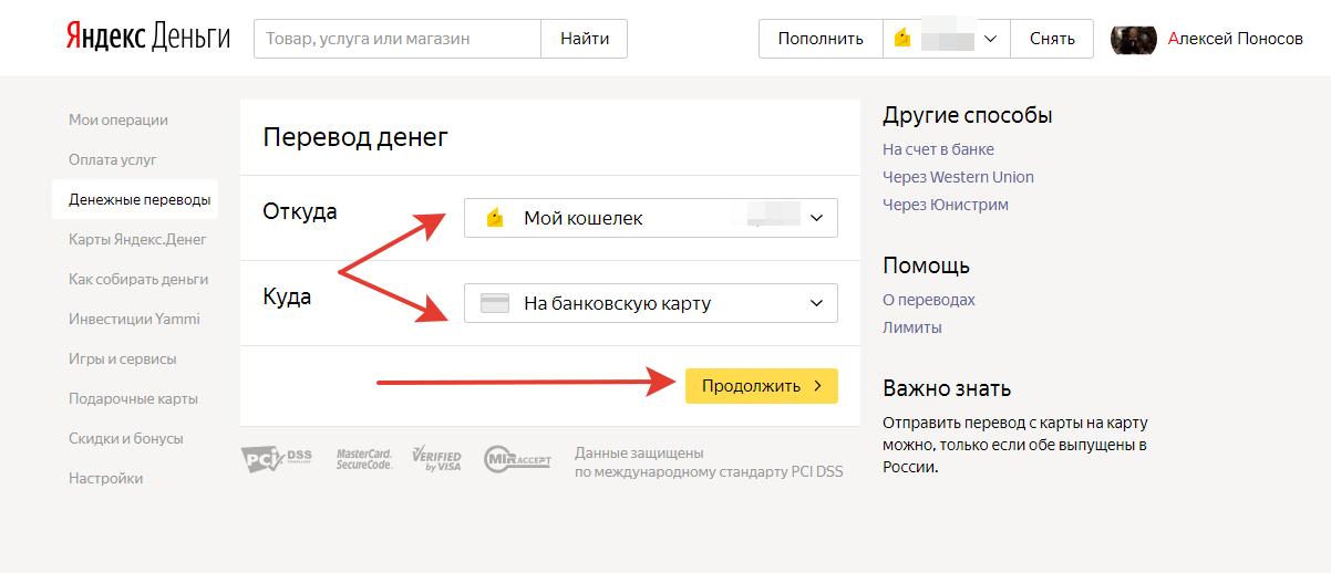 Яндекс.Деньги на карту Приватбанка